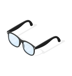 Isometric 3d of hipster glasses vector