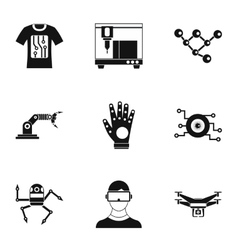 Latest electronic devices icons set simple style vector