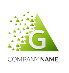 Letter g logo symbol in colorful triangle vector