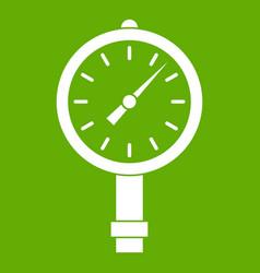 Manometer or pressure gauge icon green vector