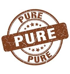 Pure brown grunge round vintage rubber stamp vector