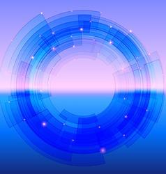 Retro-futuristic background with blue segmented vector image