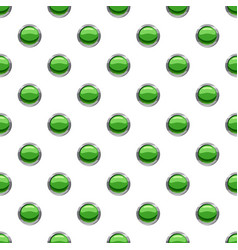 Round green button pattern vector