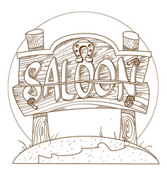 Signboard saloon pointer on the theme of the wild vector