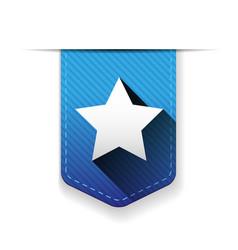 Star ribbon insignia vector