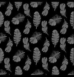Stylish bird feathers seamless pattern design vector