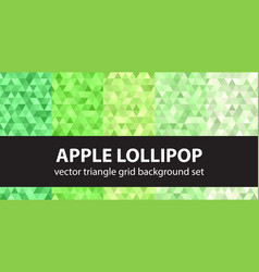 Triangle pattern set apple lollipop seamless vector