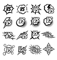 Versus logo set argue fight symbols in vector