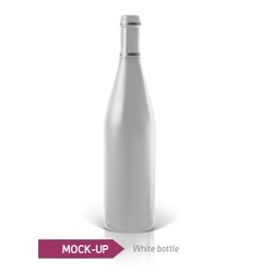 white bottles of wine or cocktail vector image vector image