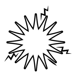 explosion banner isolated icon design vector image