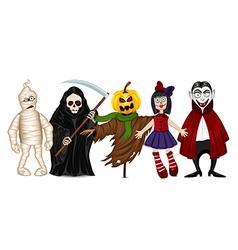 Characters for halloween vector