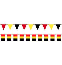 Belgium bunting vector