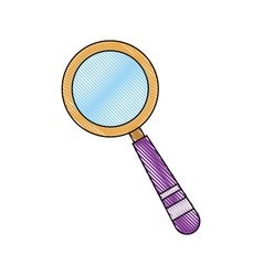 School magnifier search discovery science vector