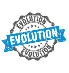 Evolution stamp sign seal vector