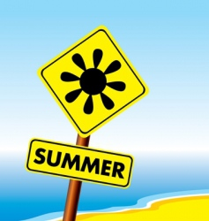 Summer sign vector