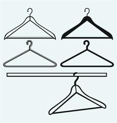 Clothes hangers vector