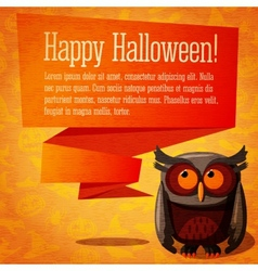 Happy halloween cute banner or greeting card on vector