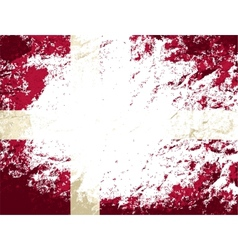 Danish flag grunge background vector