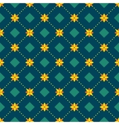 Abstract seamless pattern with floral elements vector image