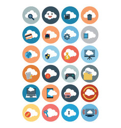 Cloud computing flat icons 2 vector
