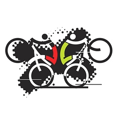 Freeride cyclists vector