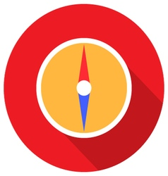 Compass in flat design vector