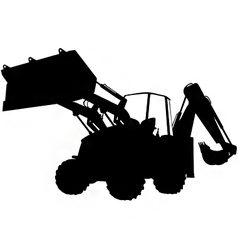 Digger silhouette vector