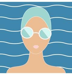 Woman in swimming cap vector image