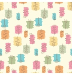 Ornate seamless pattern with the stylized flowers vector
