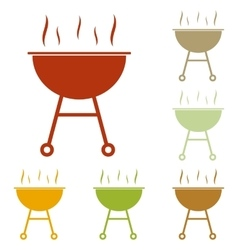 Barbecue simple sign vector