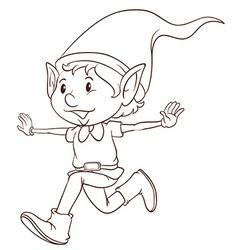 A plain drawing of an elf vector