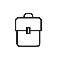 Backpack book bag icon on white background vector