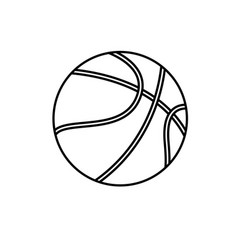 basketball ball sport play equipment line vector image