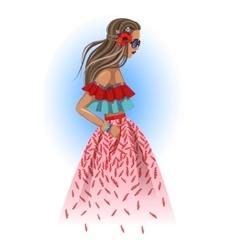 Beautiful fashion hippie girl vector image