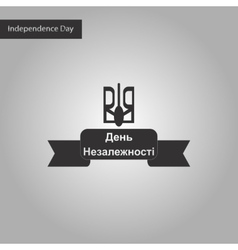 Black and white style icon of ukraine independence vector