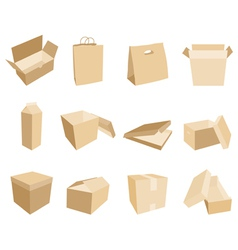 boxes and packages vector image
