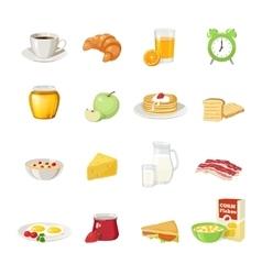 Breakfast food icon set vector