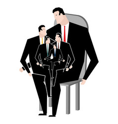 Business family office relatives corporate vector