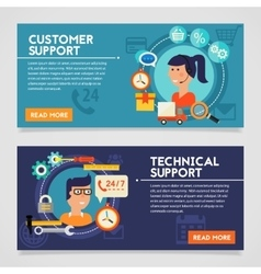 Customer and technical support concept vector