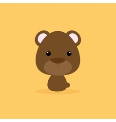 Cute cartoon wild bear vector