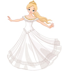 Dancing princess vector