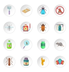 Exterminator icons set vector