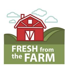 Farm fresh product label farmer barn vector