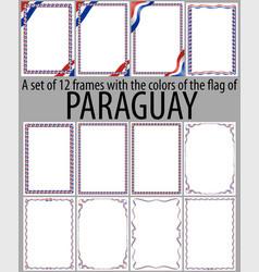 Flag v12 paraguay vector