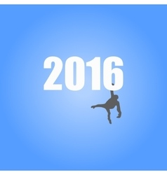 for the year of monkey 2016 vector image vector image