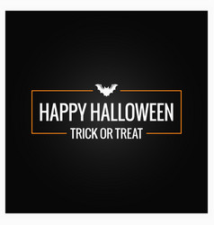 halloween party logo design background vector image vector image