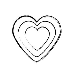 Heart decoration empty sketch vector