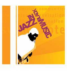 in jazz vector image