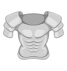 Iron armor icon gray monochrome style vector image vector image