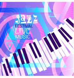 jazz festival live music concert poster vector image vector image
